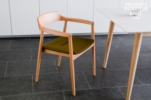 The simple lines of Danish furniture design as exhibited in this chair