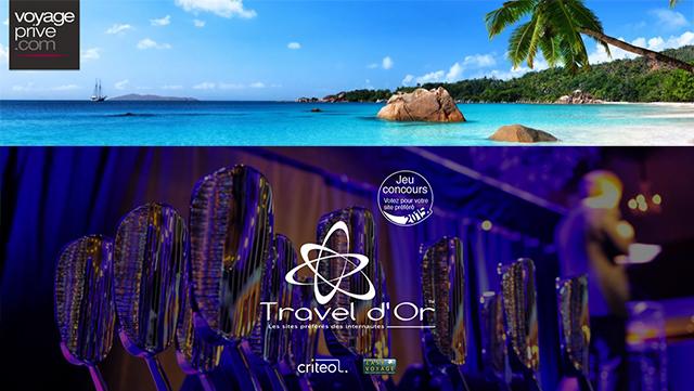 Travel d'Or 2015 - Voyage Privé