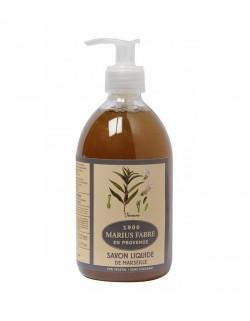 Savon liquide Marius Fabre à l'huile d'olive et de coprah parfumé à la verveine